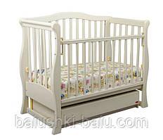 """Детская кроватка """"VIVA"""" premium (белая, ваниль, орех)"""