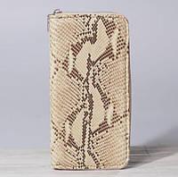 Кошелек из кожи змеи Анаконда, женский на молнии