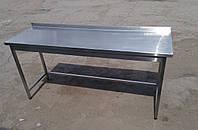 Стол 1100х600х850 из нержавейки с бортом