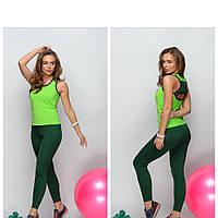 Женский костюм для фитнеса   Одежда для тренировок лосины и топ
