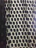 Ниточная тюль квадраты черные