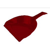 Совок хозяйственный 225х350 мм цвет микс