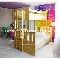 Двухъярусная кровать-трансформер Кузя Chaswood 90x190 Сосна Дерево