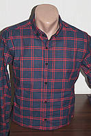 Мужская клетчатая  рубашка Sayfa, длинный рукав