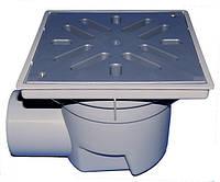 HL605L Дворовый трап Perfekt DN110 горизонтальный  с морозоустойчивым запахозапирающим устройством.