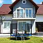Батут Atleto 435 см с внешней сеткой + лестница, фото 2
