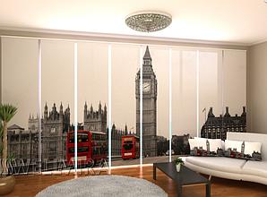 """Панельные Фото шторы """"Просто Лондон"""" 480 х 240 см"""