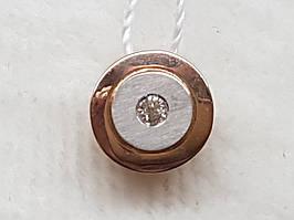 Золотая подвеска с бриллиантом. Артикул 880386-К