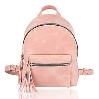 Рюкзак кожаный пудровый М, фото 1