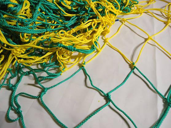 Сетка для футбольных ворот футбольная D.3,5 12см. ячейка. 1,5м. глубина Стандарт Плюс 1.5, фото 3