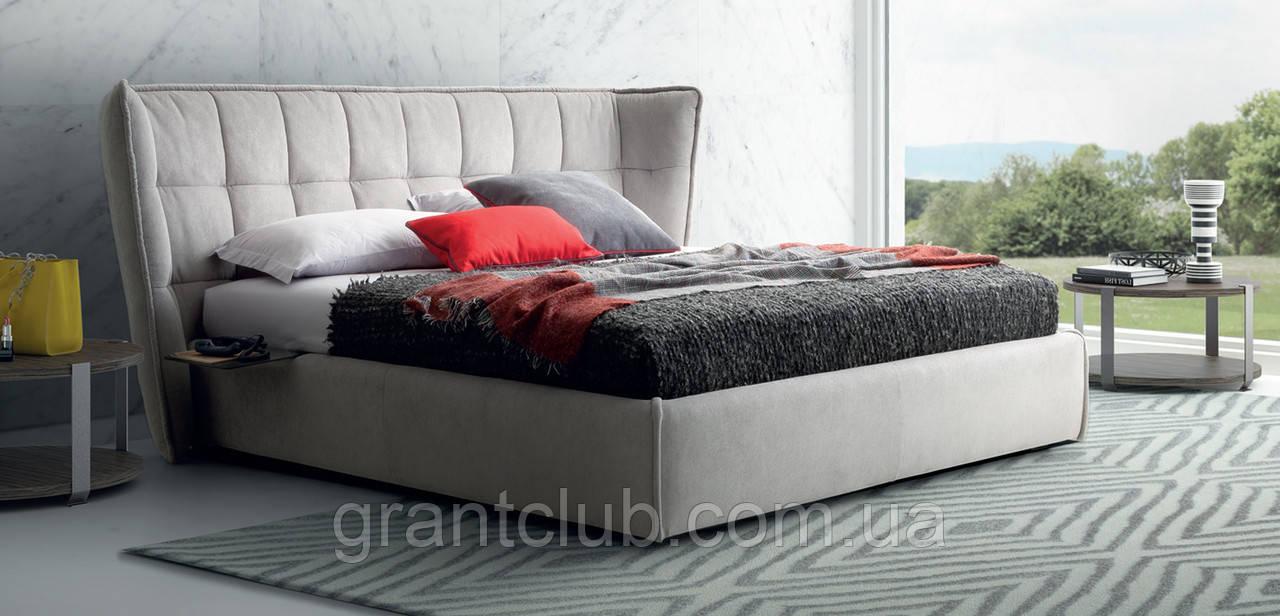 Итальянская современная кровать в ткани ASPEN фабрика LeComfort