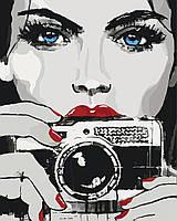 Картина-раскраска Глаза цвета неба (KH2670) 40 х 50 см
