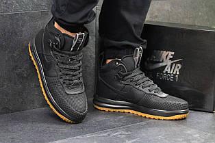 Кросівки чоловічі шкіряні Nike Lunar Force LF - 1,чорні 41,44 р
