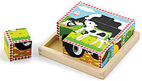 Пазл-кубики Viga Toys Ферма (59789)