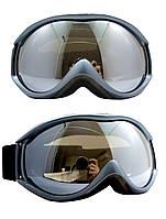 Маска горнолыжная/лыжные очки Nice Face 050: серебряный цвет