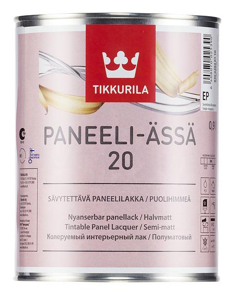 Полуматовый акрилатный панельный лак Панели-Ясся (Paneeli-assa) Тиккурила (Tikkurila), EP, 9л