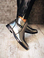 Женские ботинки Tommy H!lF с цепочкой никель.
