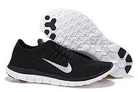 Кроссовки Nike Free 4.0 Flyknit Running Shoes Black White, фото 1