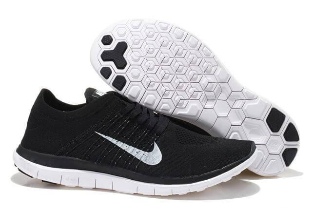 Кроссовки Nike Free 4.0 Flyknit Running Shoes Black White