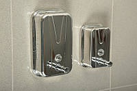 Дозатор для жидкого мыла 1л. из нержавеющей стали