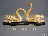 Статуэтка Лебеди 60 см стекло на дереве 118-040