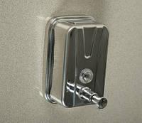 Диспенсер для жидкого мыла 500мл., из нержавеющей стали