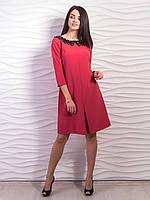 Платье с контрастным воротником , фото 1