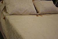 Покрывало - накидка на кровать (песочная), двухспальная