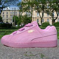 Кроссовки женские Puma Suede (розовые)