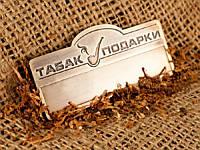 Металлический бейдж с окошком для наклейки (латунь), 65х30 мм (Крепление: Бабочка;  Именной: Все бейджи одинаковые;)