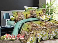 Постельное белье  двуспальное тигры  5д недорого