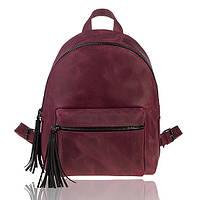 Рюкзак кожаный рубиновый орландо М, фото 1