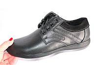 Мужские кожаные туфли, DS04, цвет черный
