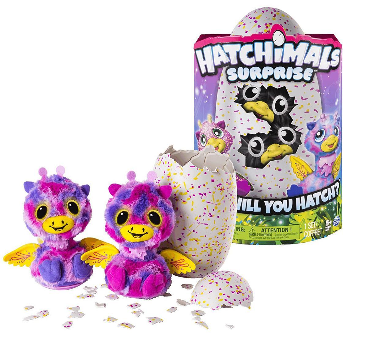 Интерактивные игрушки Близнецы-жирафики Двойной сюрприз в яйце Хетчималс Hatchimals Surprise Giraven YellowEgg