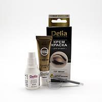 Набор  для бровей и ресниц, черная краска Delia