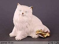 Статуэтка Кошка 19 см фарфор 276-126