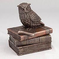 Шкатулка Veronese Сова на книгах 12 см 75509