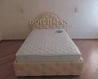 """Современная стильная двухспальная кровать """"Юнона"""" с мягкой фигурной спинкой на заказ, фото 1"""