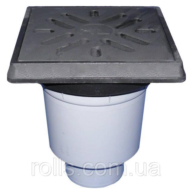 HL606.1/1 Дворовий трап серії Perfekt DN110 верт. , чавун, з морозостійким запахозапираючим пристроєм.