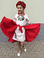 Платье вышиванка детское Калина (размер 158)