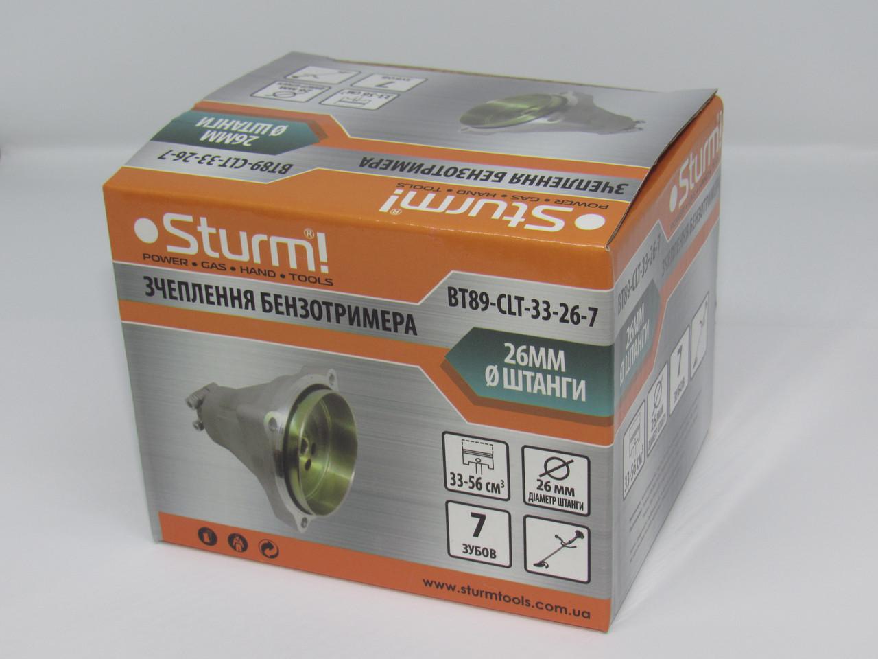 Сцепление бензотриммера, 33-56 см куб, 26мм, 7 зуб, Sturm BT89-CLT-33-26-7