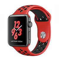 Ремень для Apple Watch Sport Band 42mm Nike Watch Red / Black (AWA0147)