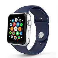 Ремень для Apple Watch Sport Band 38mm Silicone Watch Midnight Blue (AWA006)