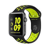 Ремень для Apple Watch Sport Band 38mm Nike Watch Band Black / Green (NWB38BG)