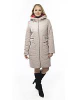 Женское пальто осень-весна Иветта пудра (50-60)