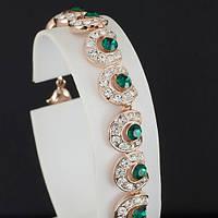 Прелестный браслет с кристаллами Swarovski, покрытый золотом 0698
