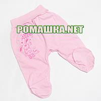 Ползунки (штанишки) на широкой резинке р. 74 ткань КУЛИР 100% тонкий хлопок ТМ Алекс 3166 Розовый Б