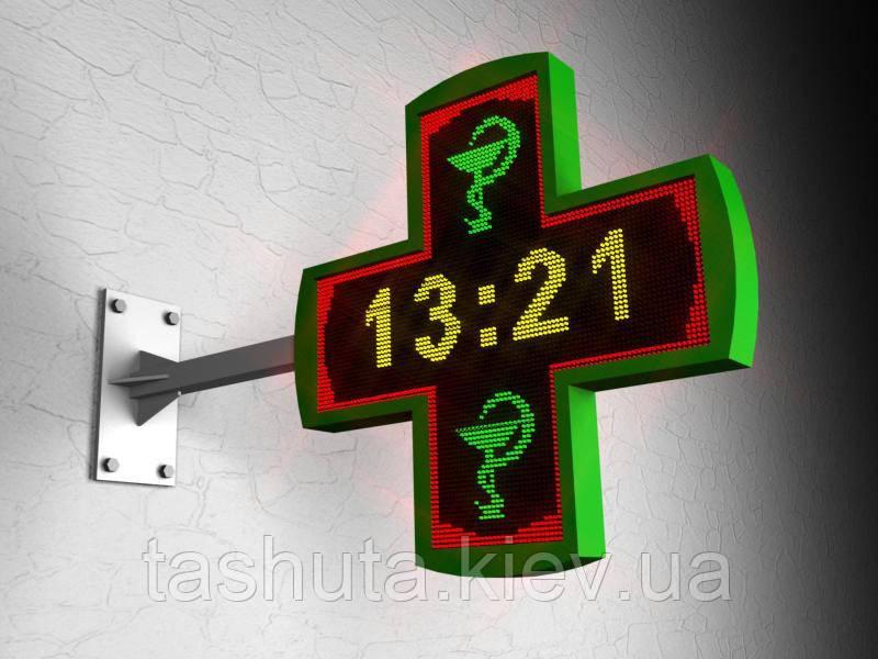LED Крест многоцветный фигурный 1080х1080 мм (Вид: Двухсторонний;  Датчик температуры: Без датчика; Цвет стального каркаса: Белый;), фото 1