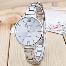 Роскошные женские часы GENEVA Женева сталь серебро