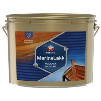 Алкидно-уретановый полуматовый лак для яхт Eskaro Marine Lakk 40, 9,5л